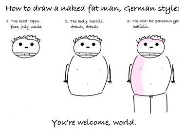 How To Draw A Naked Fat Man, German Style
